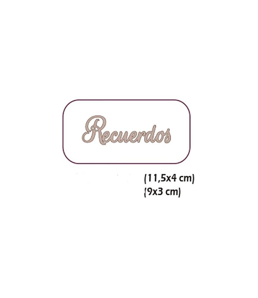 """Set 2 palabras cartón """"Recuerdos"""""""