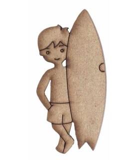 Imagén: Silueta madera surfista