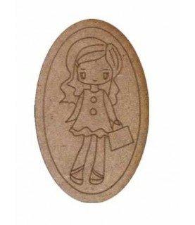 Comprar Silueta de madera Muñeca cartera ovalo de Conideade