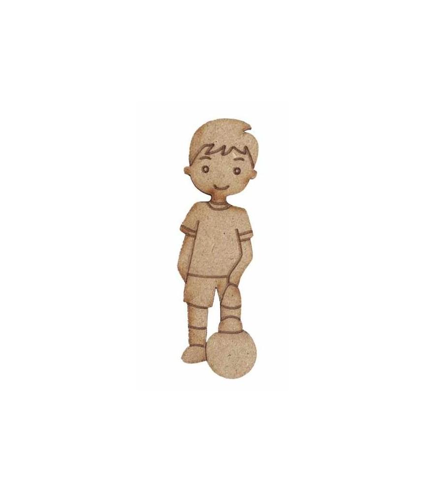 Silueta de madera Muñeco futbolista