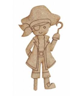 Silueta de madera pirata patapalo