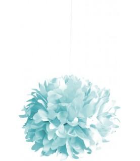 Bola de papel de seda azul