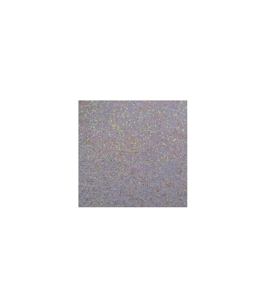 Hoja de fieltro purpurina gris