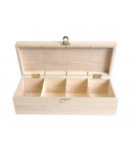 Comprar Caja para te de madera rectangular de Conideade