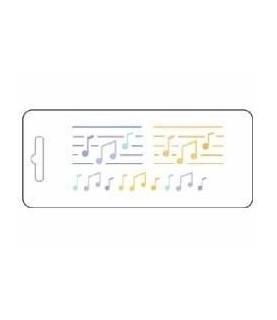 Comprar Plantilla stencil acetato notas musicales de Conideade