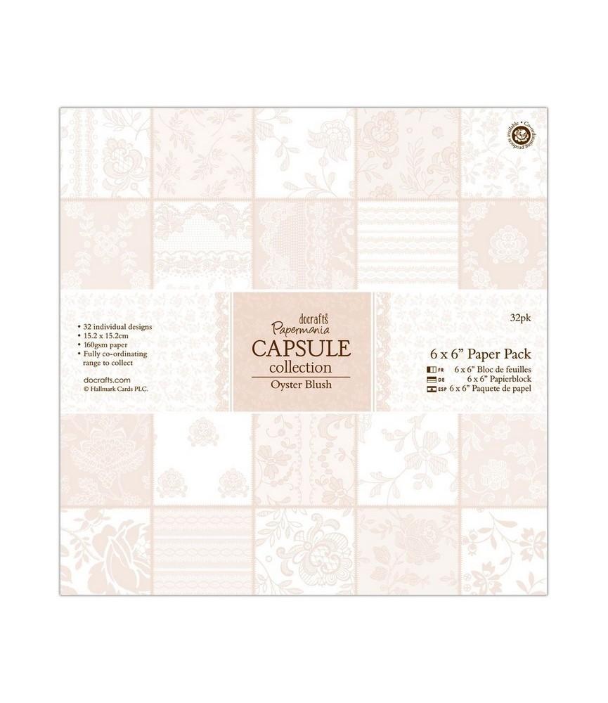 32 hojas scrap Capsule-Oyster Blush 6x6