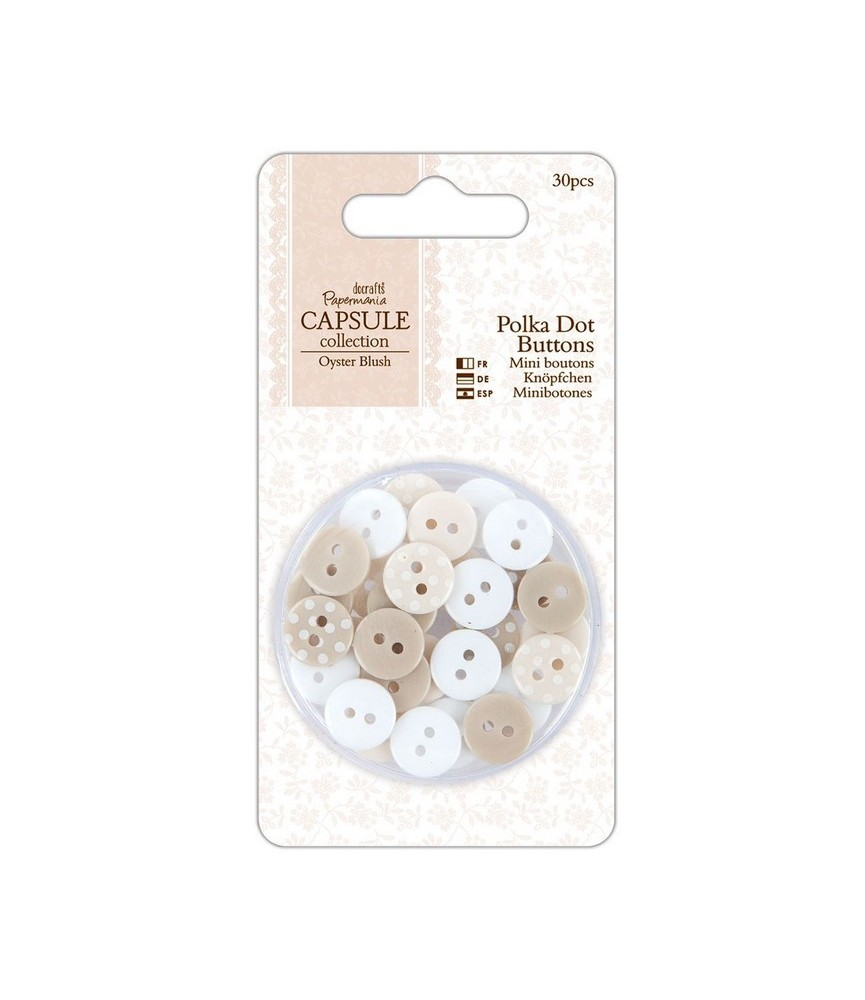 Pack 30 Botones mod Oyster Blush