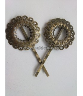 Comprar Horquilla vintage bronce corona de Conideade