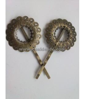 Horquilla vintage bronce corona