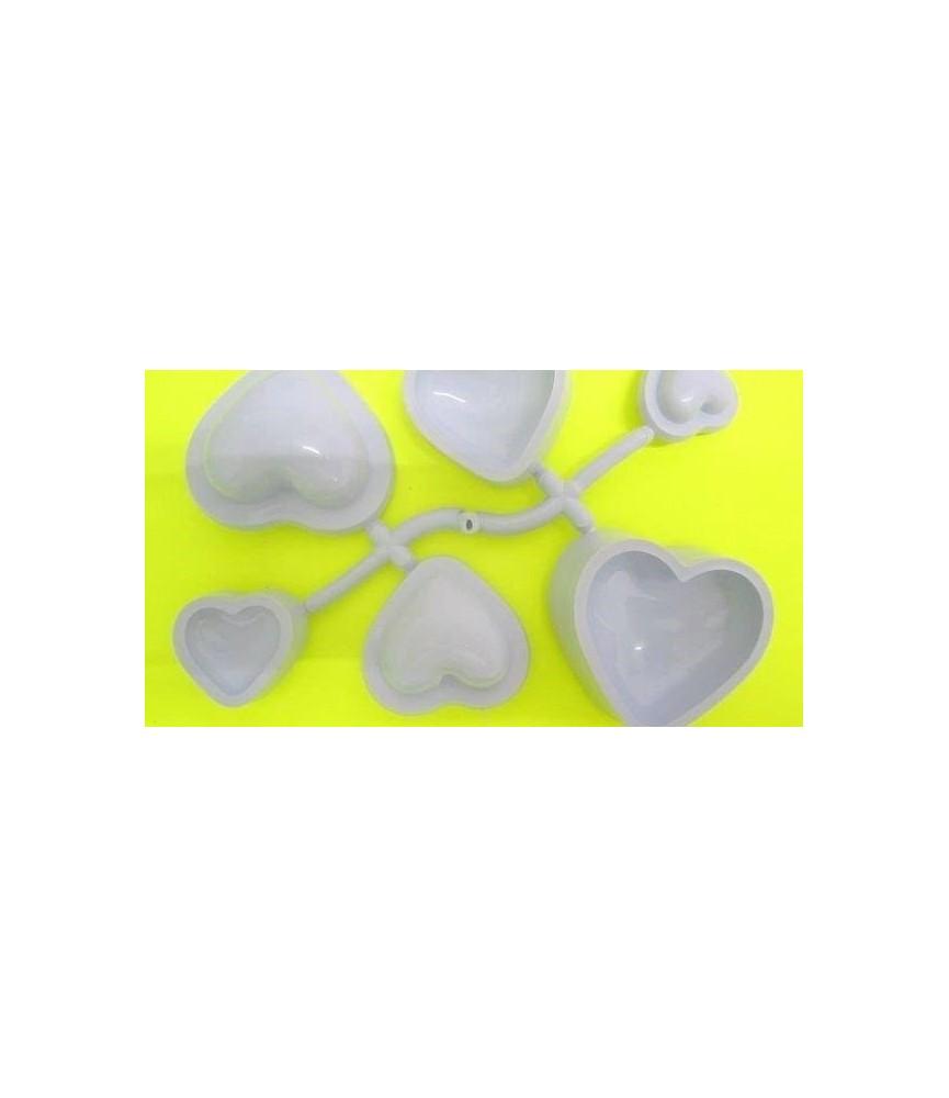 Molde Termoformado corazones 3 tamaños