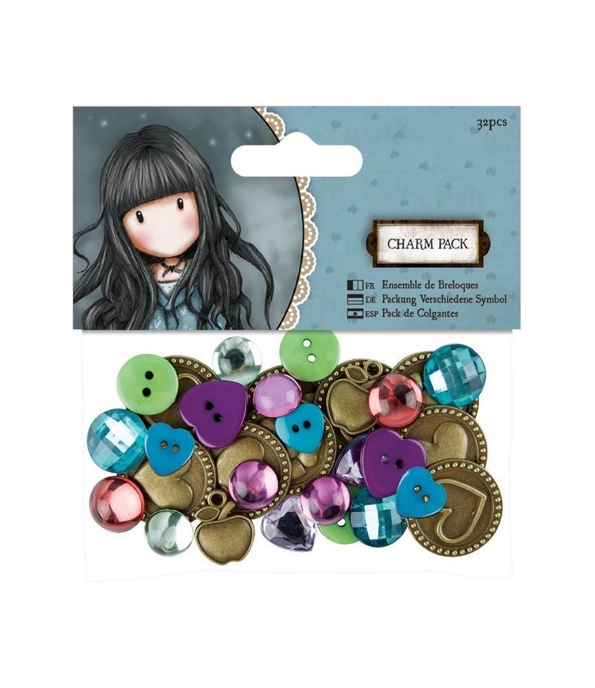 Pack de Colgantes, botones y perlitas