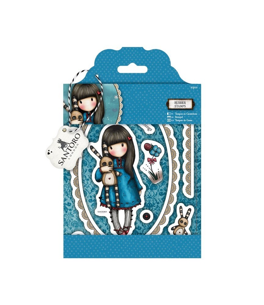 Pack 10 sellos gorjuss- Hush little Bunny