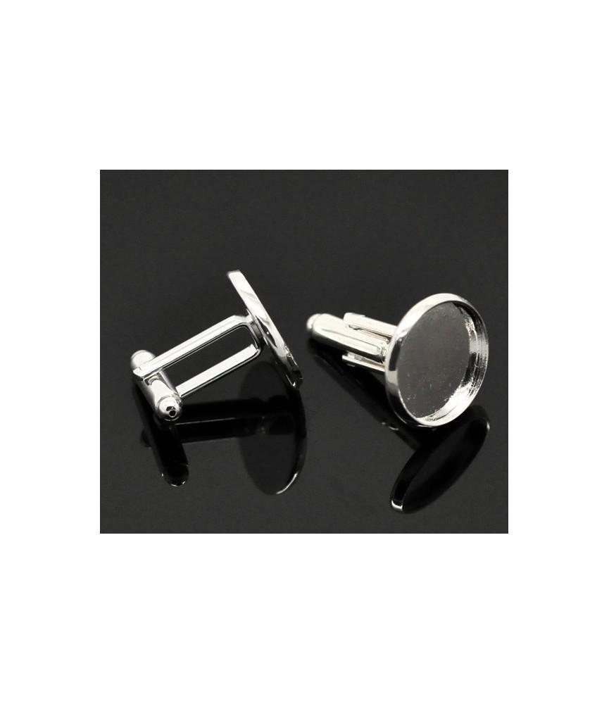 Gemelos para cabuchon de 16 mm