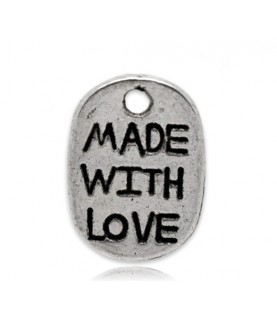 Charm made with love plata
