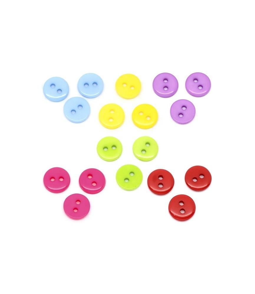 Pack 12 mini botones de colores