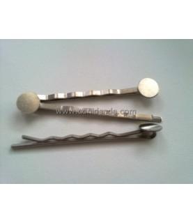 Horquilla plata con base para pegar