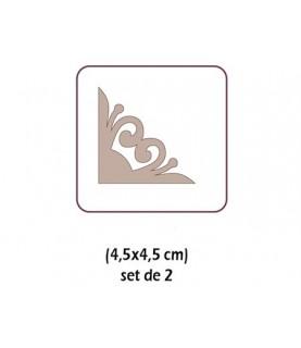 Silueta de carton 2 esquineras filigrana