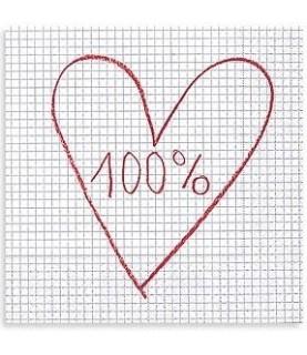 Imagén: Servilleta 100% corazón 33x33 cm