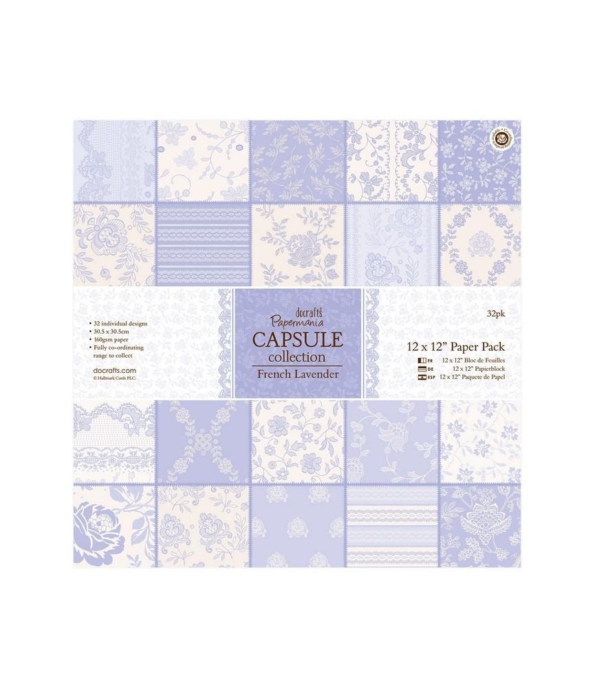 32 hojas scrap Capsule-french lavender 12x12