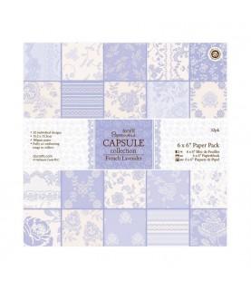 Pack 32 hojas scrap Capsule-french lavender 6x6