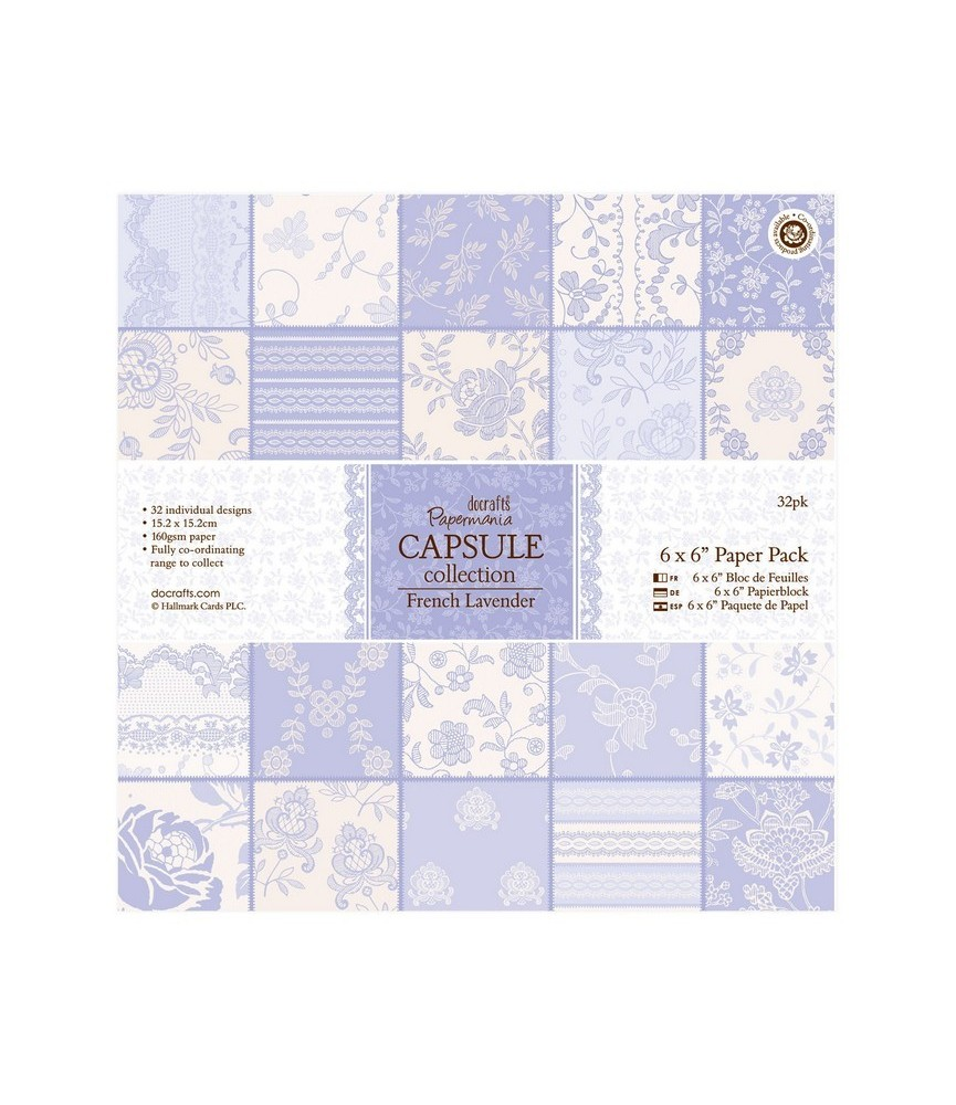 Pack 32 hojas scrap Capsule-french lavender 6x6