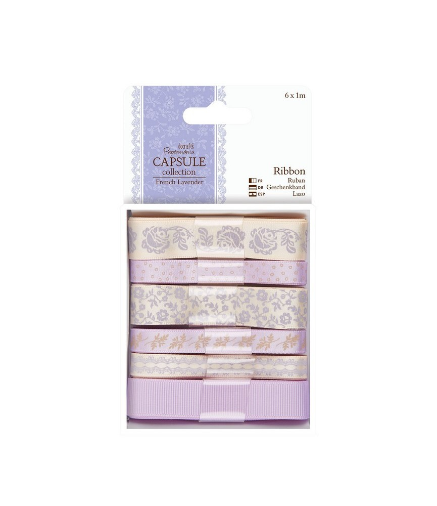 Pack de 6 cintas mod French Lavender