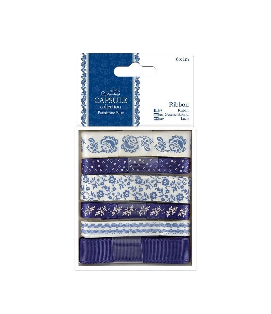 Pack de 6 cintas mod Parisienne Blue