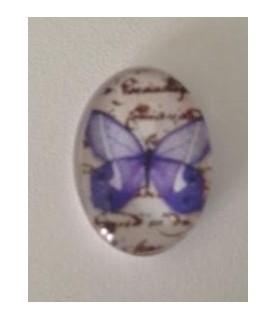 Imagén: Cabuchon cristal mariposa azulona 18x13mm