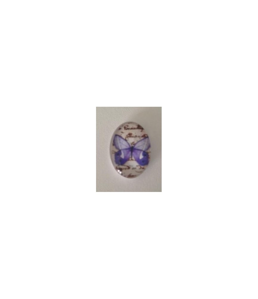 Cabuchon cristal mariposa azulona 18x13mm