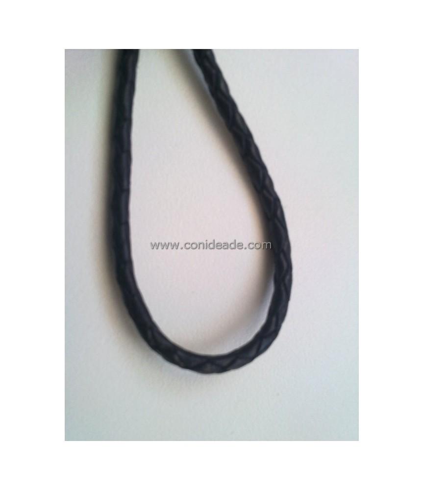 Cordón de cuero trenzado color 5 mm