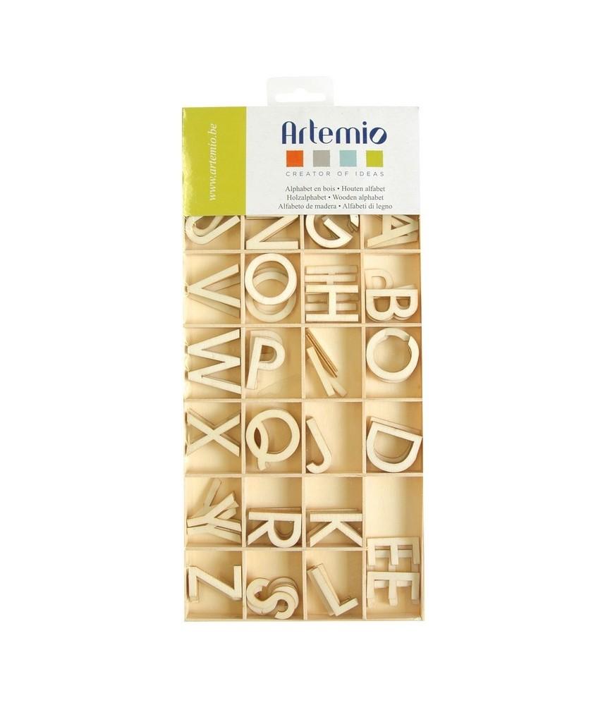 Pack abecedario completo de madera 3 cm