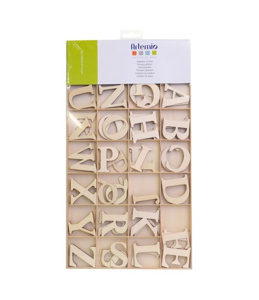 Pack abecedario completo de madera 6 cm