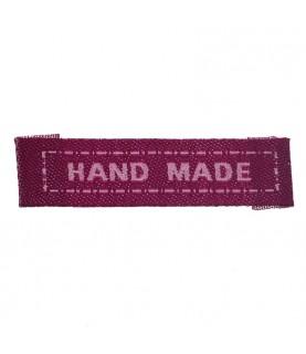 Pack 5 Etiquetas de tela Hand made rosa