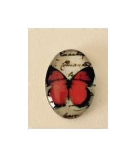 Comprar Cabuchon cristal mariposa lisa roja18x13mm de Conideade