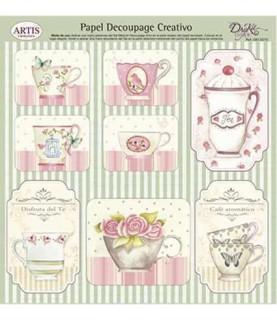 Comprar Papel decorativo tazas rosas de Conideade