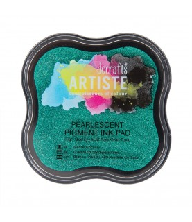 Tinta Ink Pad- Verde metalizado