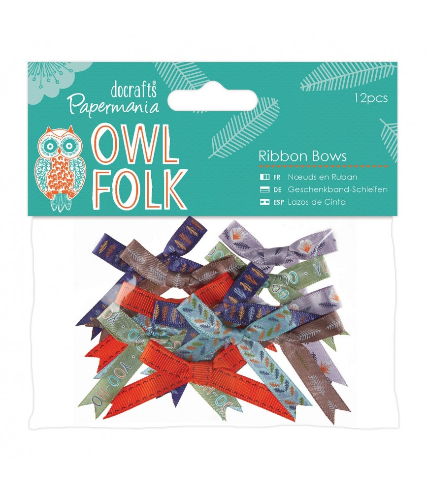 Pack de 12 lazos mod Owl Folk