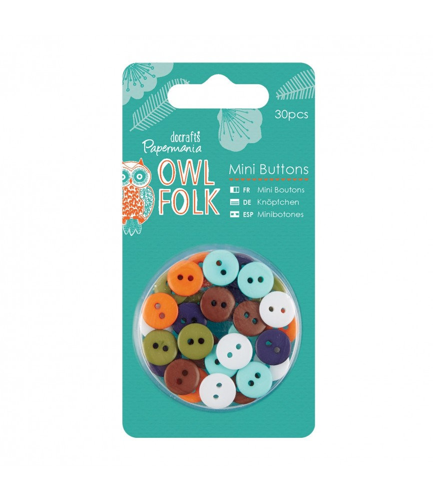 Pack 30 Botones mod Owl Folk