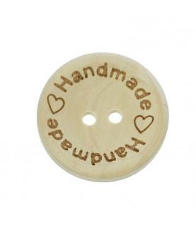 Botón de madera handmade