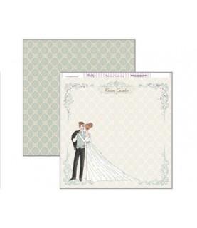 Imagén: Papel scrap 30,5 x 30,5 recien casados