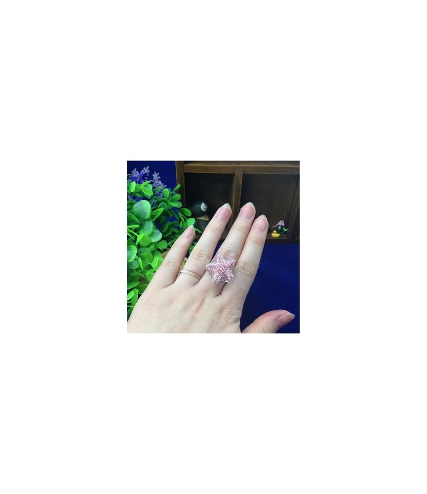 Set anillo con estrella de cristal