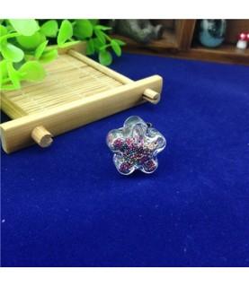 Set anillo con flor de cristal