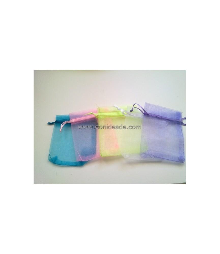 Pack de 5 bolsas de organza 9x7cm