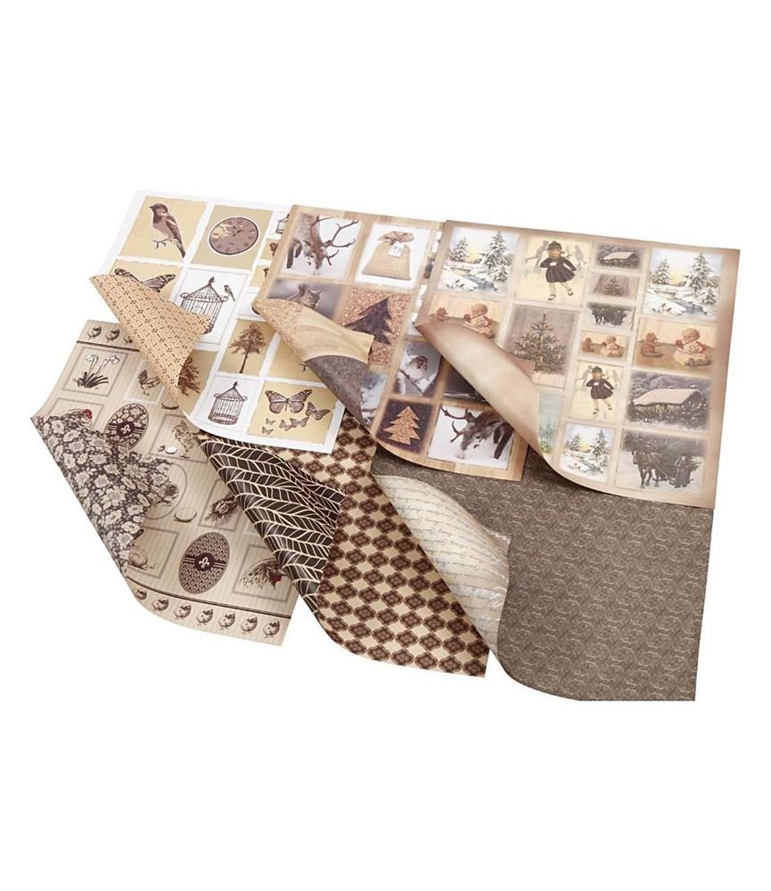 Pack 6 Hojas de scrap de 30,5 x 30,5 cm Oslo
