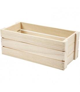 Caja de manzanas de madera 34 cm x 15 cm