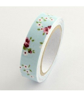 Comprar Rollo de Fabric tape flores azul de Conideade