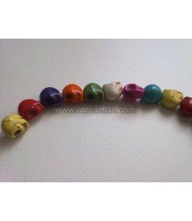 Pack de 10 cuentas de calaveras varios colores