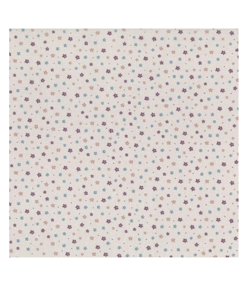 Tela algodón pocketful of daisies blanco (19)