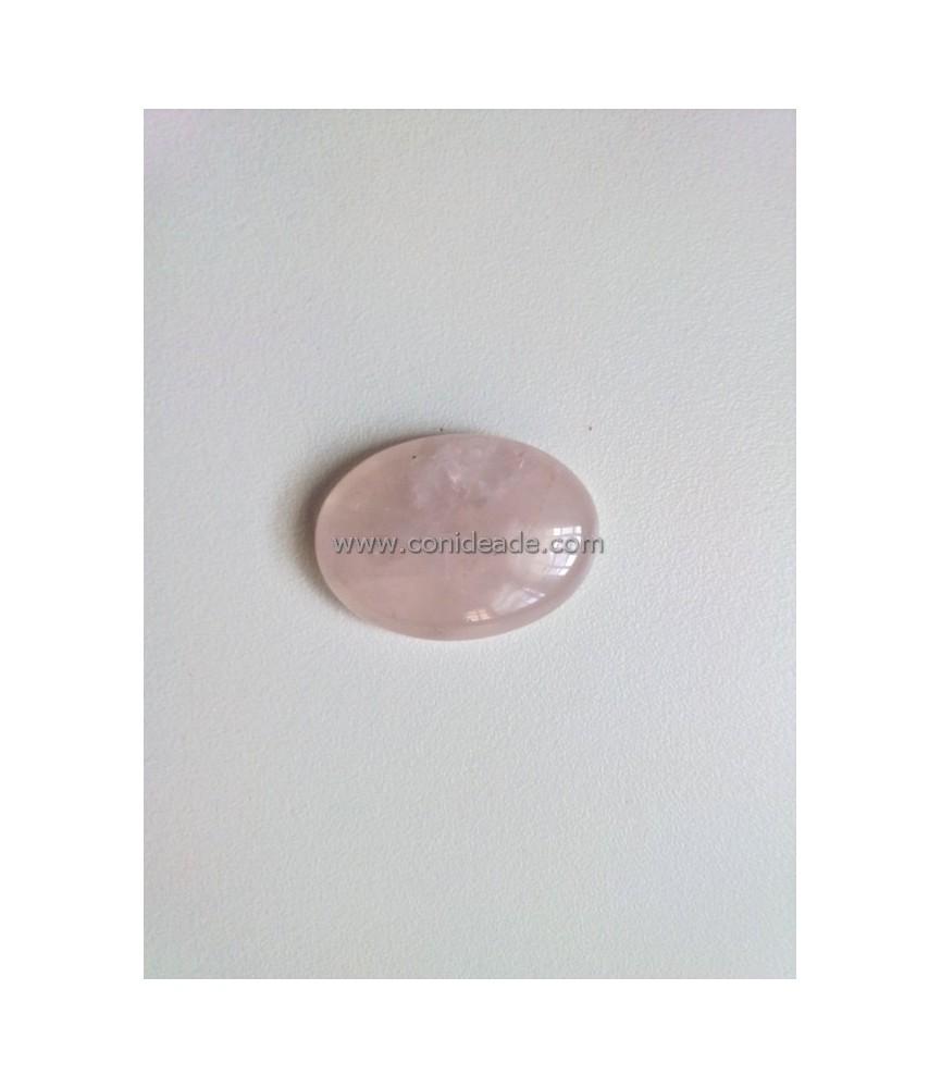 Cabuchon rosa de piedra 25x18 mm
