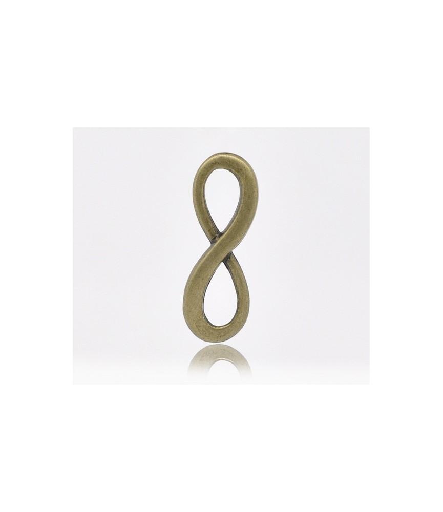 Charm simbolo infinito bronce